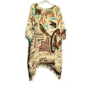 """VINTAGE """"Magic"""" Made in India poncho"""